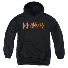 Def Leppard Horizontal Logo Youth Pull Over Hoodie