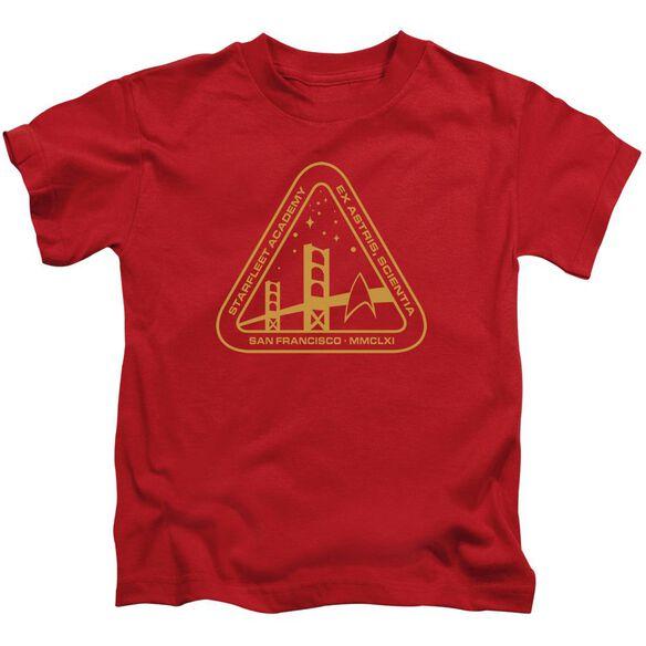 Star Trek Gold Academy Short Sleeve Juvenile Red T-Shirt