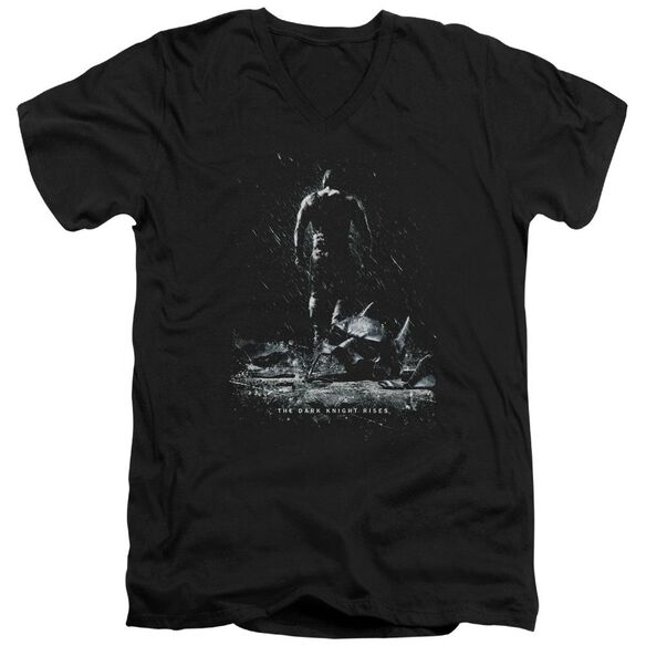 Dark Knight Rises Bane Poster Short Sleeve Adult V Neck T-Shirt