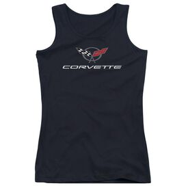 Chevrolet Corvette Modern Emblem Juniors Tank Top