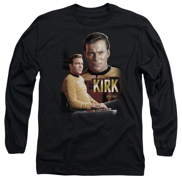 Star Trek Captain Kirk Long Sleeve Adult T-Shirt