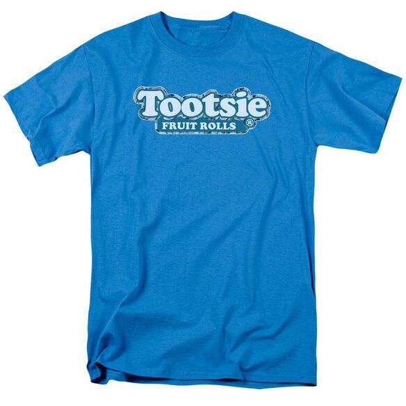 Tootsie Roll Tootsie Fruit Rolls Logo Short Sleeve Adult Turquoise T-Shirt