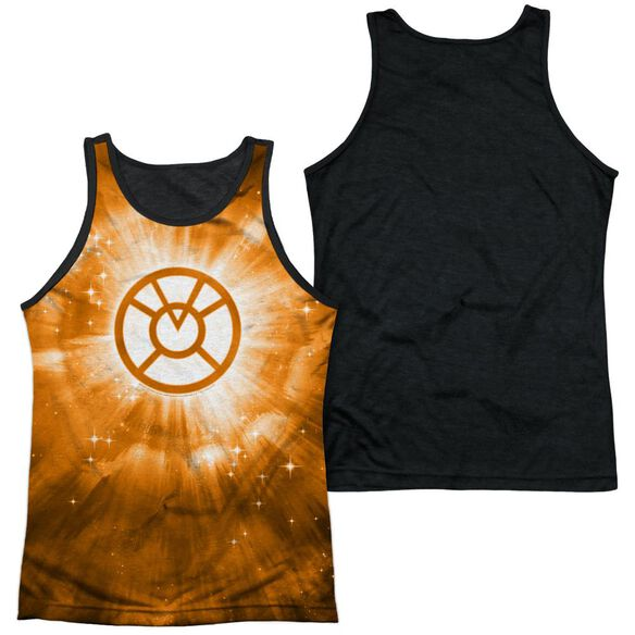 Green Lantern Orange Energy Adult Poly Tank Top Black Back