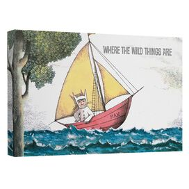Where The Wild Things Are Maxs Boat Canvas Wall Art With Back Board