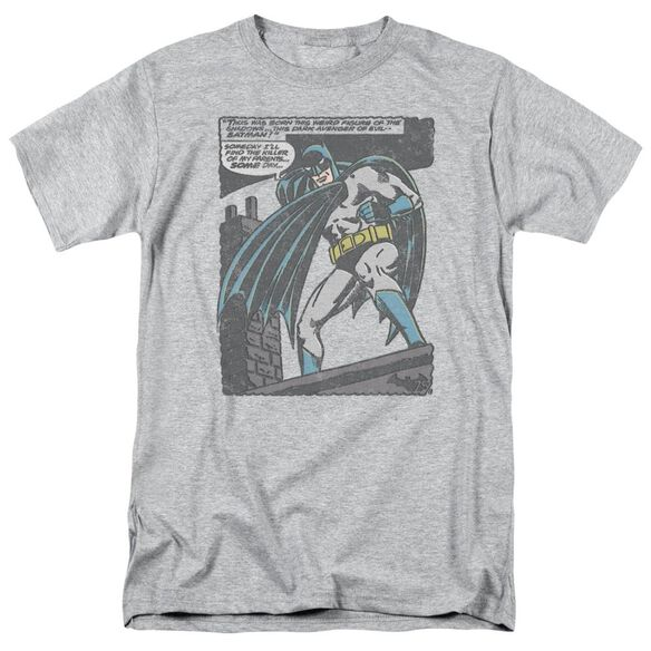 Batman Bat Origins Short Sleeve Adult Athletic Heather T-Shirt