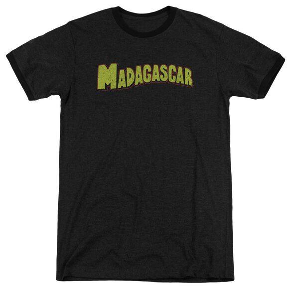 Madagascar Logo Adult Heather Ringer