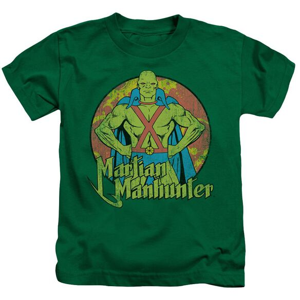 Dc Martian Manhunter Short Sleeve Juvenile Kelly Green T-Shirt