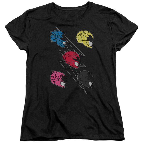 Power Rangers Line Helmets Short Sleeve Womens Tee T-Shirt