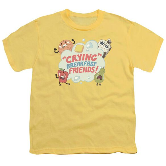 Steven Universe Crying Breakfast Friends Short Sleeve Youth T-Shirt