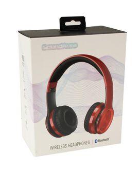SoundAura SAHB239 Wireless Bluetooth Headphones [Red]