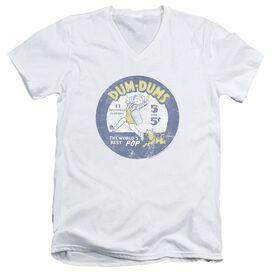 Dum Dums Pop Parade Short Sleeve Adult V Neck T-Shirt