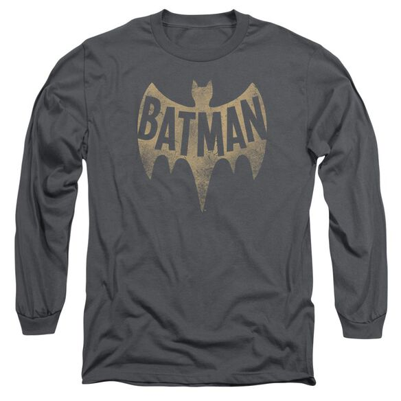 Batman Classic Tv Vintage Logo Long Sleeve Adult T-Shirt
