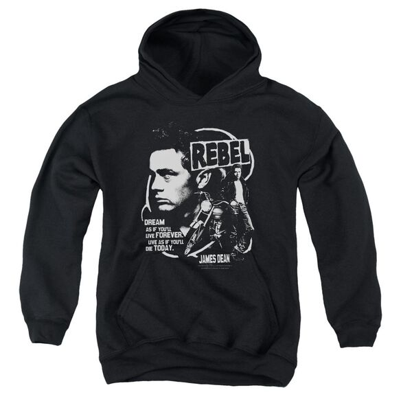 Dean Rebel Cover Youth Pull Over Hoodie