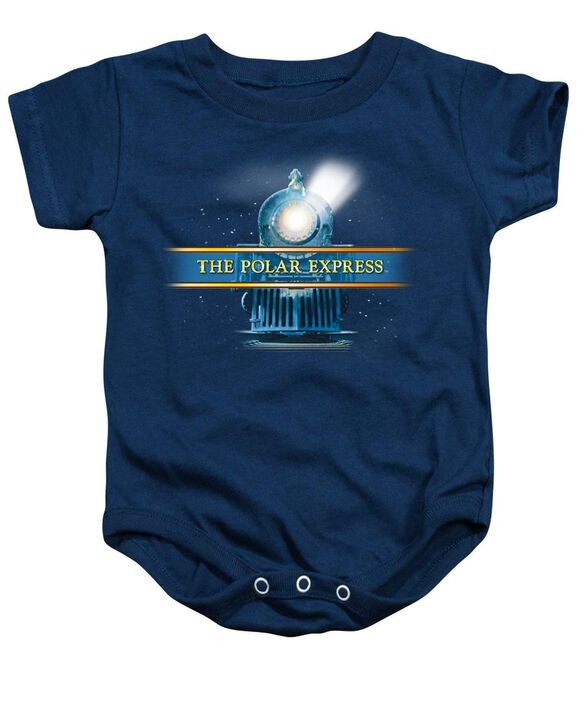 Polar Express Train Logo Infant Snapsuit Navy Md