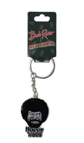 Bob Ross Happy Trees Key Chain