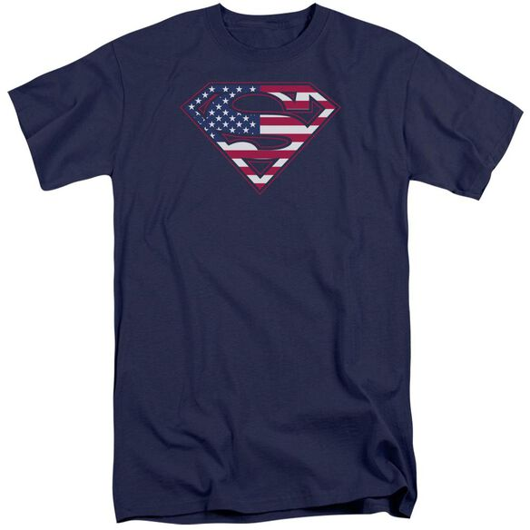 Superman U S Shield Short Sleeve Adult Tall T-Shirt