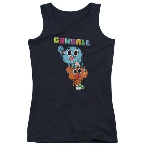 Amazing World Of Gumball Gumball Spray Juniors Tank Top