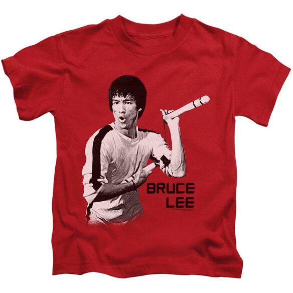 Bruce Lee Nunchucks Short Sleeve Juvenile Red Md T-Shirt
