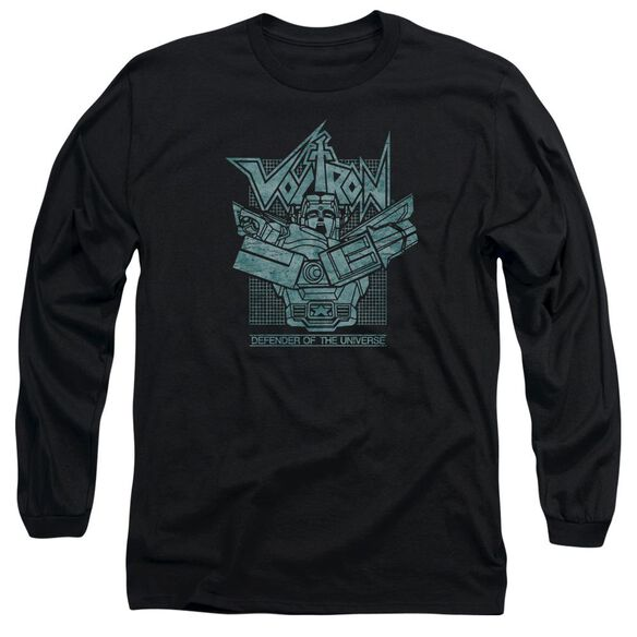 Voltron Defender Rough Long Sleeve Adult T-Shirt