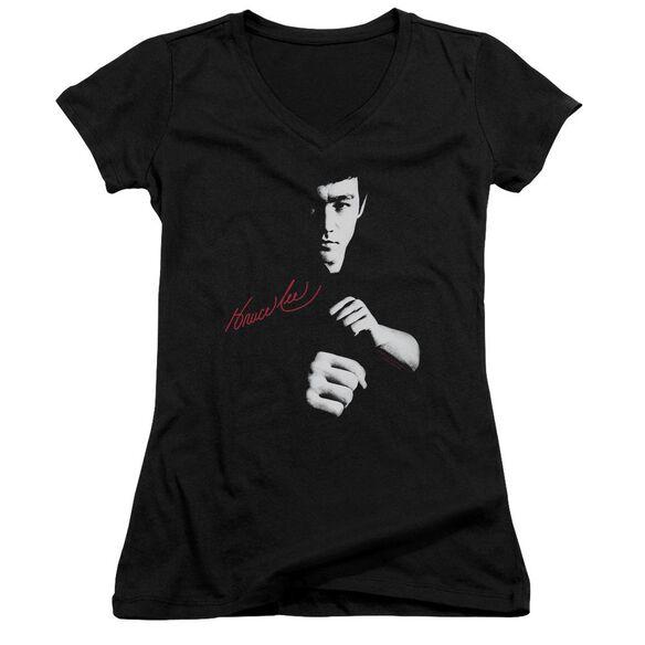 Bruce Lee The Dragon Awaits Junior V Neck T-Shirt