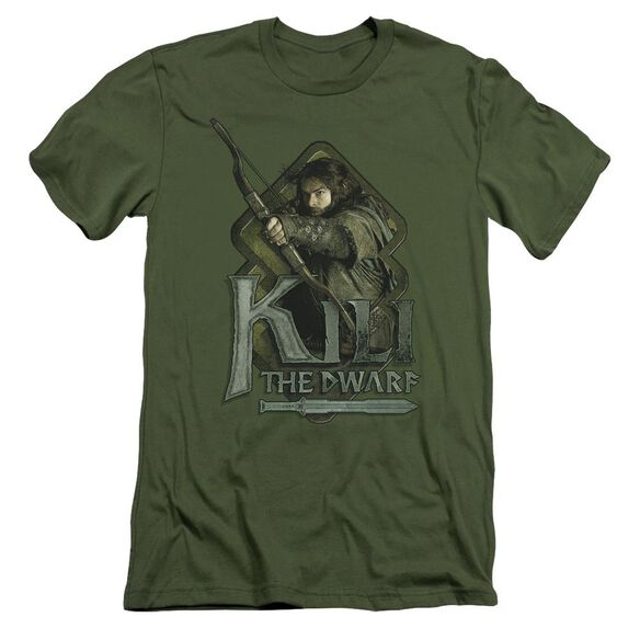 The Hobbit Kili Short Sleeve Adult Military T-Shirt