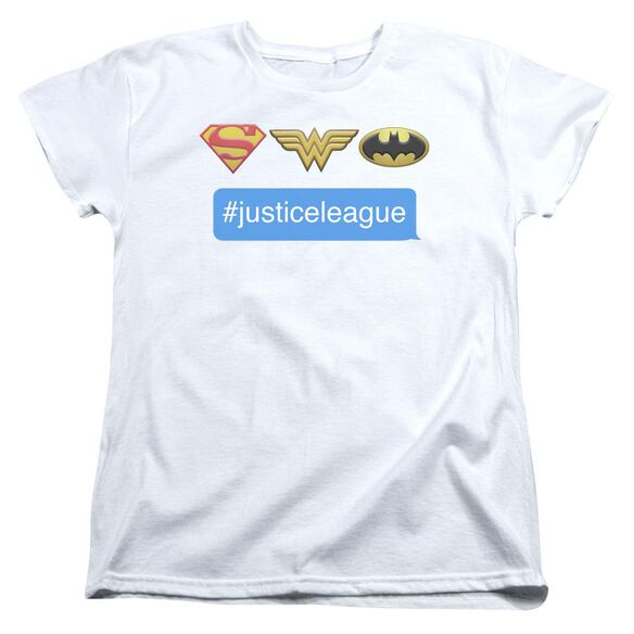 Dc Hashtag Jla Short Sleeve Womens Tee T-Shirt