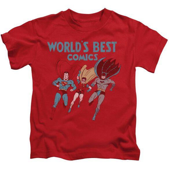 Jla Worlds Best Short Sleeve Juvenile Red T-Shirt