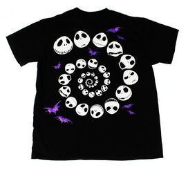 Jack Skellington Face Swirl Kids T-Shirt