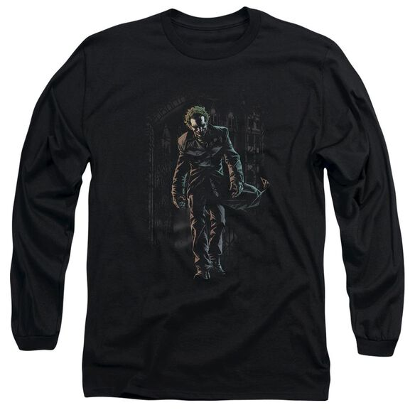 Batman Joker Leaves Arkham Long Sleeve Adult T-Shirt