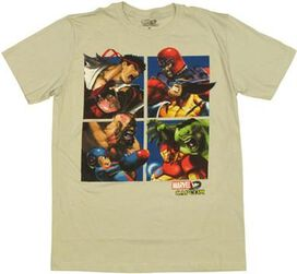 Marvel vs Capcom Teams T-Shirt Sheer