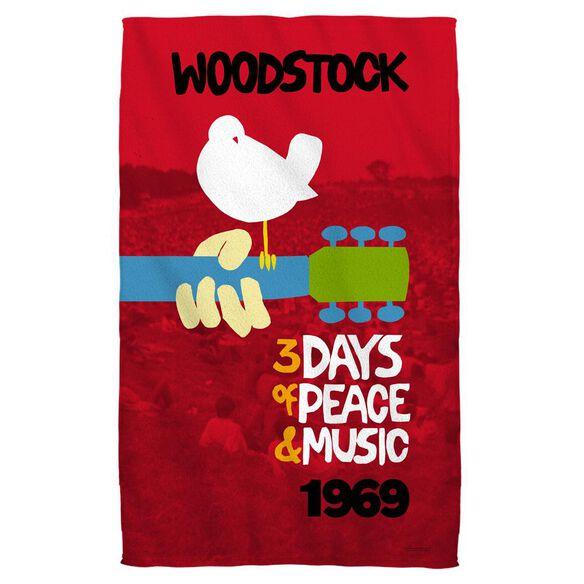 Woodstock Classic Towel White