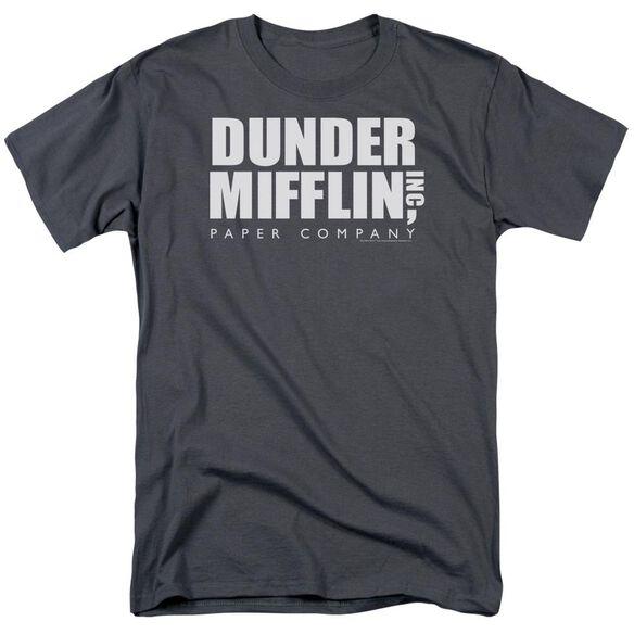 The Office Dunder Mifflin Short Sleeve Adult Charcoal T-Shirt