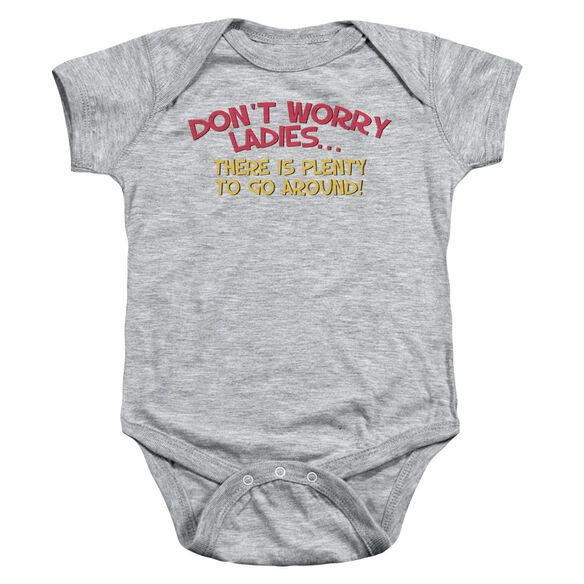 Don't Worry Infant Snapsuit Athletic Heather Lg