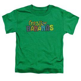 Dubble Bubble Crazy Bananas Short Sleeve Toddler Tee Kelly Green Lg T-Shirt
