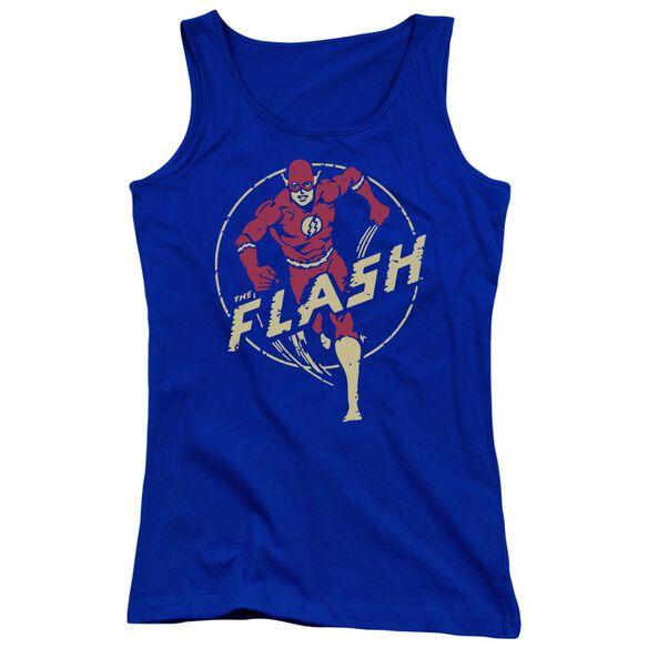 Dc Flash Flash Comics - Juniors Tank Top - Royal Blue