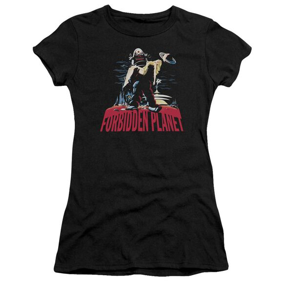 Forbidden Planet Robby And Woman Premium Bella Junior Sheer Jersey