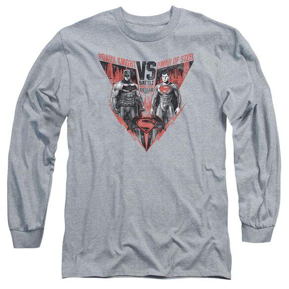 Batman V Superman Batlle For Gotham Long Sleeve Adult Athletic T-Shirt