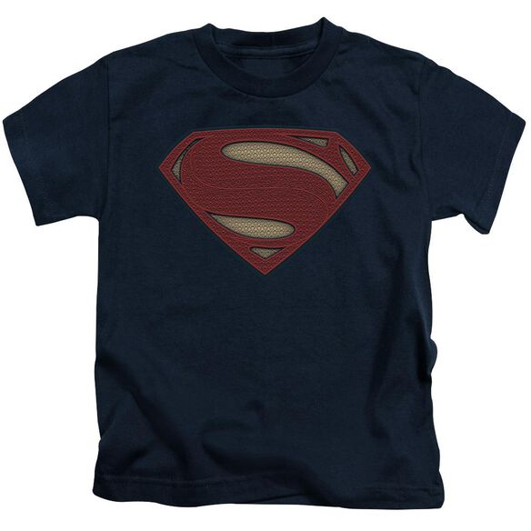 Batman V Superman Super Movie Logo Short Sleeve Juvenile Navy T-Shirt