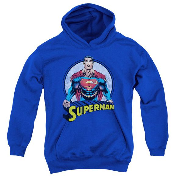 Superman Flying High Again Youth Pull Over Hoodie