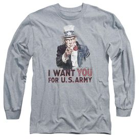 Army I Want You Long Sleeve Adult Athletic T-Shirt