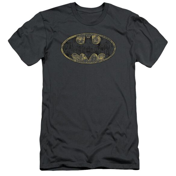 Batman Tattered Logo Short Sleeve Adult T-Shirt