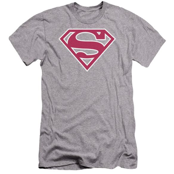 Superman Red & White Shield Premuim Canvas Adult Slim Fit Athletic