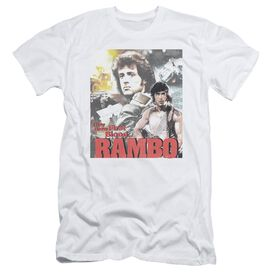 Rambo:First Blood They Drew Collage Short Sleeve Adult T-Shirt