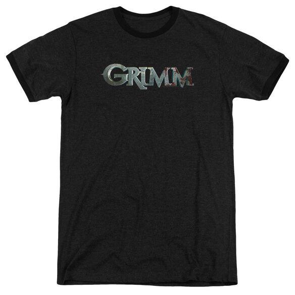 Grimm Bloody Logo Adult Heather Ringer
