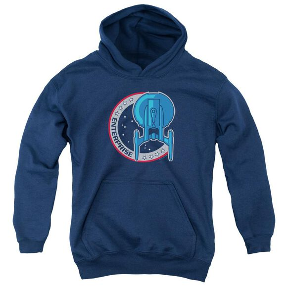 Star Trek Enterprise Patch Youth Pull Over Hoodie