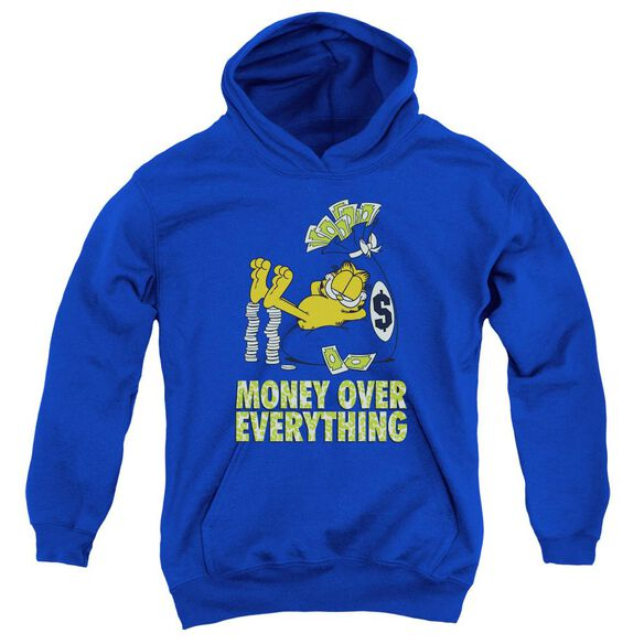 Garfield Money Is Everyfthhing Youth Pull Over Hoodie