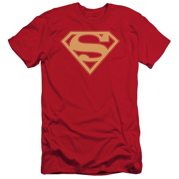Superman & Gold Shield Short Sleeve Adult T-Shirt
