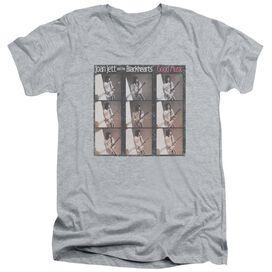 Joan Jett Good Music Short Sleeve Adult V Neck Athletic T-Shirt