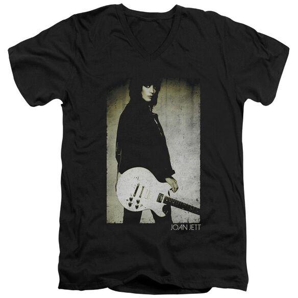 Joan Jett Turn Short Sleeve Adult V Neck T-Shirt
