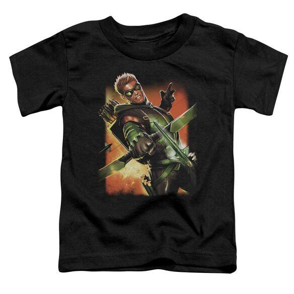 Jla Green Arrow #1 Short Sleeve Toddler Tee Black Sm T-Shirt